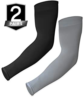 1 Pair Ice Silk Cycling Arm Warmer SPF 50 UV Protection Bicycle Arm Sleeve Cover