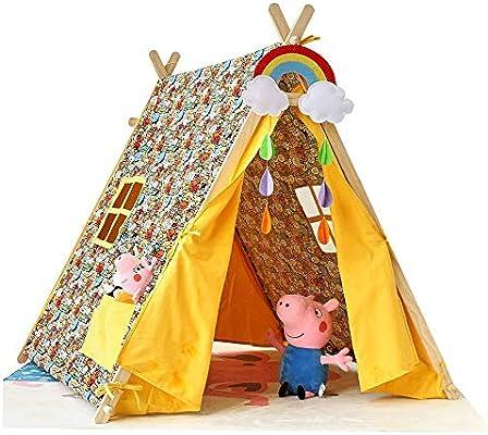 Mogicry Casa Zoológico Indio Niño Teepee Castle Dibujos Animados Animal Rincón de Lectura Tienda de campaña Regalo Cama Artefacto para niños juegan Tienda de campaña al Aire Libre en Interiores 1+: Amazon.es: