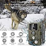 COOLIFE 21MP 1080P HD Caméra de Chasse Caméra de Surveillance Étanche 49 LEDs Grand Angle 125 ° De Vision Nocturne 25m… 7
