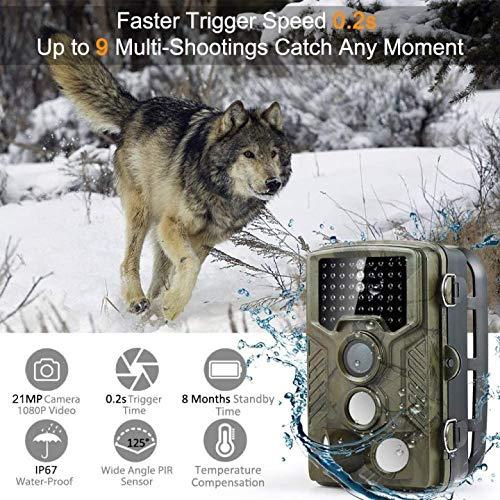 COOLIFE 21MP 1080P HD Caméra de Chasse Caméra de Surveillance Étanche 49 LEDs Grand Angle 125 ° De Vision Nocturne 25m… 2
