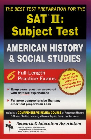 SAT II: United States History (REA)  -- The Best Test Prep for the SAT II (SAT PSAT ACT (College Admission) Prep)