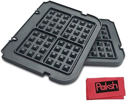 Non Stick Waffle Maker Removable Plates for Griddles - Bundl
