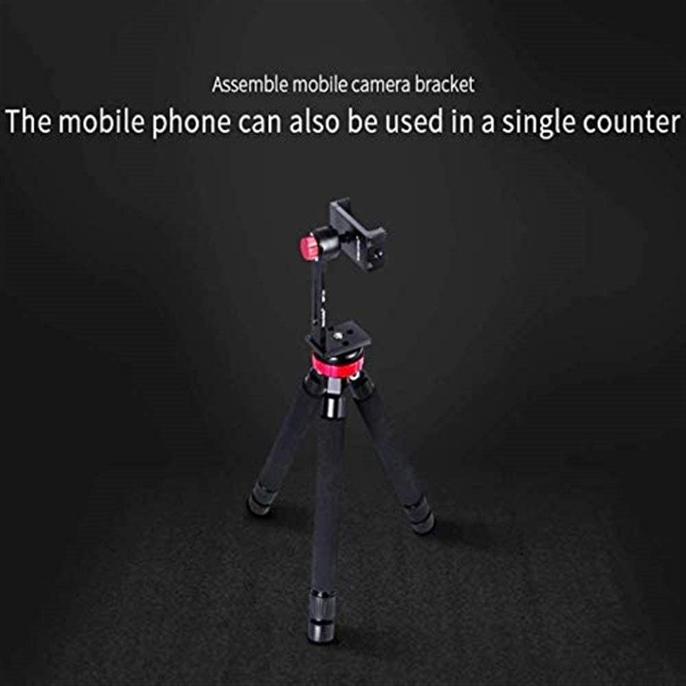 Suitable for Digital SLR Cameras and Phones Camera Stand Portable Professional Travel Tripod with 360/° Panoramic Ball Head Two Foot Pipes SECPTJ4 Camera Tripod Mini Tabletop Tripod