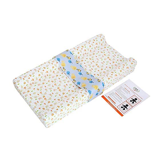 AHC Baby Diaper Changing and Massage Pad with Safety Belt (Baby Print)