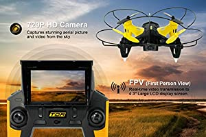 Tenergy TDR Robin Pro 5.8G FPV Drones with Camera Live Video, Auto Return Headless Quadcopter Drone for Beginners, 6-Axis Gyro 720p HD Camera RC Drone with 8G MicroSD and Extra Battery by Tenergy