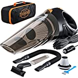 Car Vacuum - Car Vacuum Cleaner which makes your auto interior dirt-free with high-power 106W motor HEPA filter 16-foot long cord - Portable Hand-held Black 12-volt DC Car Vaccume Cleaner for car