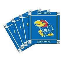 NCAA Kansas Jayhawks 4-Pack Ceramic Coasters