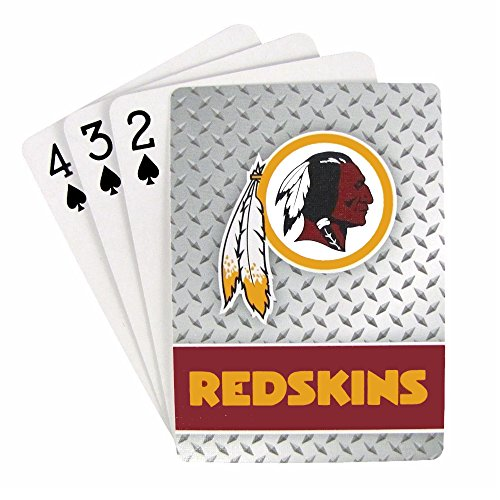 NFL Washington Redskins Diamond Plate Playing Cards (Louis Cards Game St)
