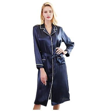 Pijamas de Seda para Damas Vestidos de Seda 100% Encaje Sexy ...