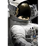 JP London SPMUR0066 Peel & Stick Removable Wall Mural Nasa Space Face Astronaut At 2' Wide By 3' High Fully Removable Peel & Stick Wall Art