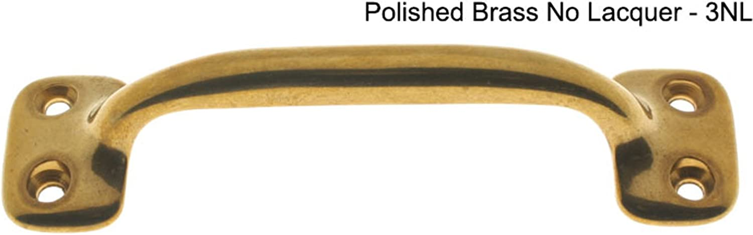 Solid Brass Door Pull Size Oil-Rubbed Bronze 1.31 H x 4.62 W x 2.5 D Finish