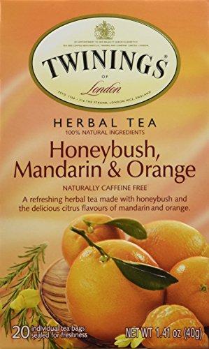 20 Bag 1 Box (Twinings of London Honeybush, Mandarin & Orange Tea Bags, 20 ct, 1 Box, 1.41 oz)