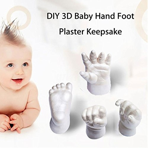 DIY Baby 3D Handprint Footprint Plaster Mould Kit by Coerni