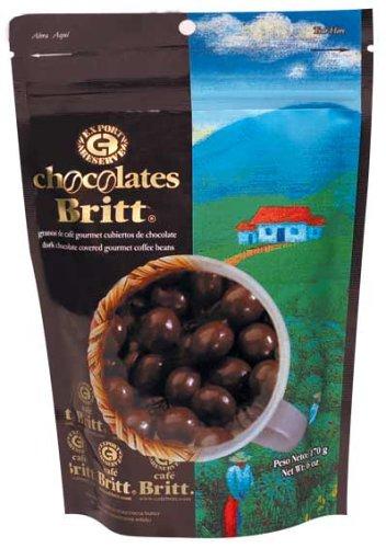 Cafe Britt Dark Chocolate Covered Espresso Coffee Beans 170g