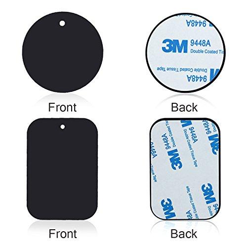 車充電器マウントメタルプレートwith Adhesive for磁気カゴマウント4パック2長方形と2ラウンド(と互換性磁気マウント) 新しい B07CWFNJKD