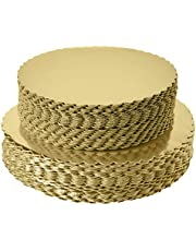 """8"""" Gold Cakeboard Round,Disposable Cake Circle Base Boards Cake Plate Round Coated Circle Cakeboard Base 8inch 25pack"""