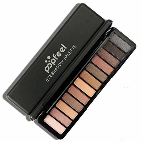 Molyveva 12 Color Women Cosmetic Matte Shimmer Eyeshadow Cream Makeup Palette (Old Lady Halloween Makeup Tutorial)