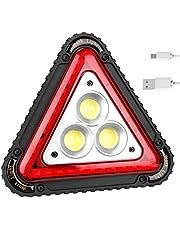 ampusanal Ritapreaty 3COB światło robocze sygnał ostrzegawczy lampka USB akumulator trójkąt zewnętrzny namiot kempingowy światło 16 x 16 x 4 cm