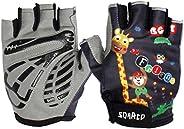 Gogokids Kids Half Finger Cycling Gloves Children Sports Gloves for Skating