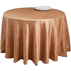 SARO LIFESTYLE LN817 Especial Round Tablecloth Liner, 72-Inch, Copper