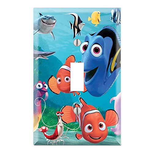 (Single Toggle Wall Switch Cover Plate Decor Wallplate - Finding Nemo Dory)