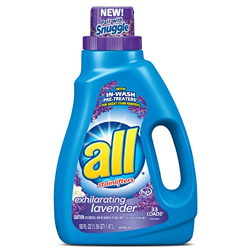 all Liquid Laundry Detergent, Exhilarating Lavender, 50 Flui