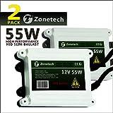 Zone Tech Ac HID Slim Digital Ballast - Premium Quality Universal Fit 55W 2K HID Slim Digital Ballast