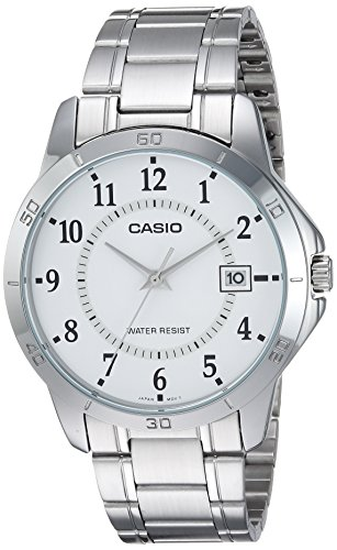 (Casio MTP-V004D-7B White Dial Stainless Steel Watch)