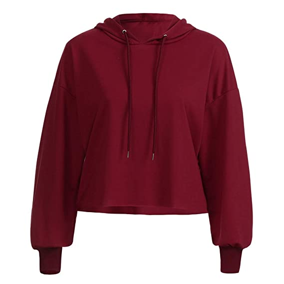 Amazon.com: Oksale Women Hoodie Casual Tops Round Neck Sweatshirts Pullover Long Sleeve Shirts: Clothing