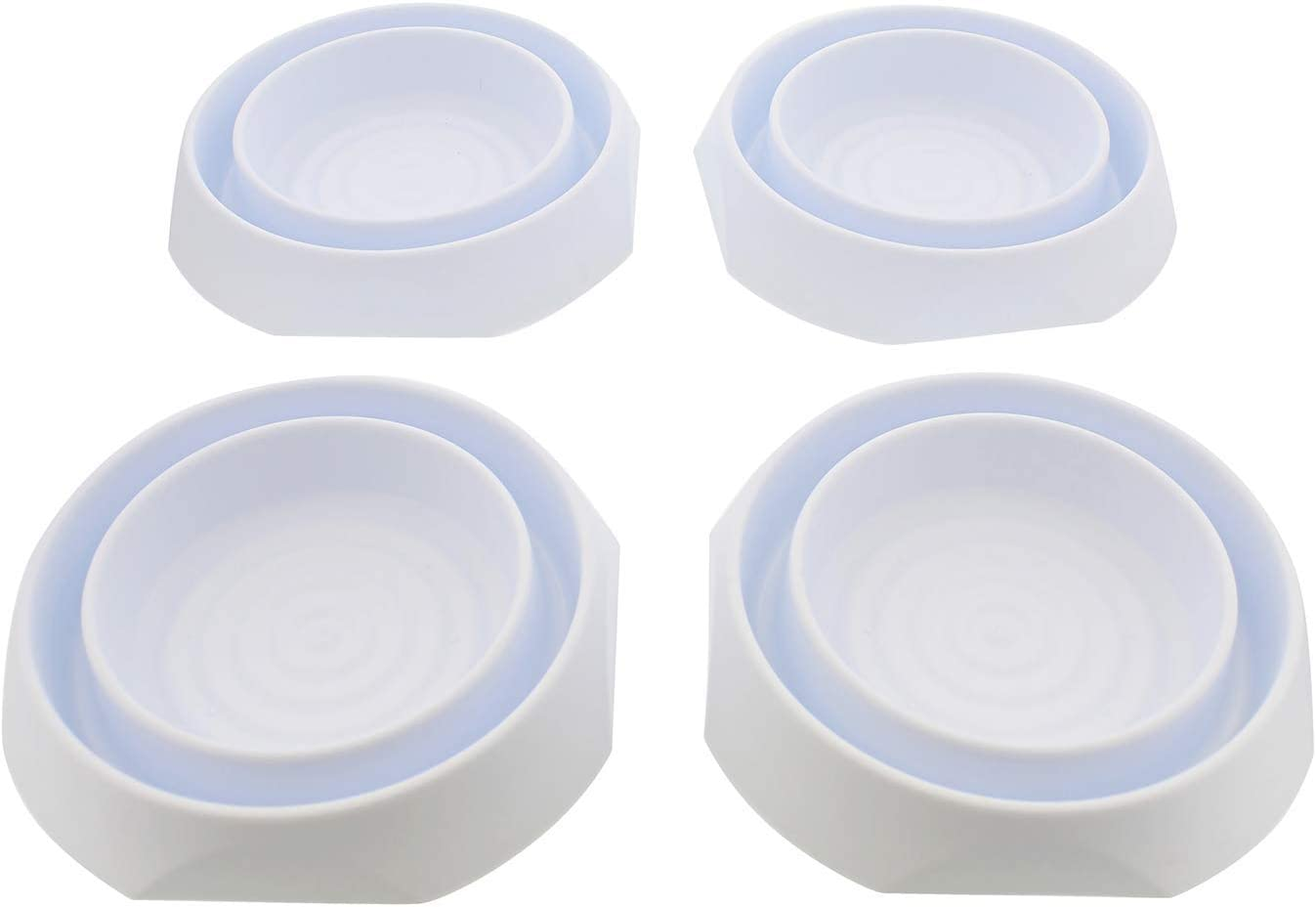 BUGSAWAY Bed Leg Protection 4 Pack White Cups Premium Night Killers Make Sure You Have Good Dreams For Family And Hotel