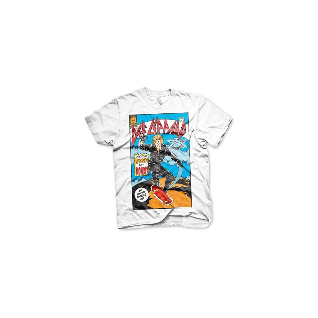 Def Leppard Oficialmente Licenciado Comic Cover Camiseta