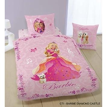 Cti 034981 Barbie Bettwäsche Diamant Schloß 135200 8080 Amazonde