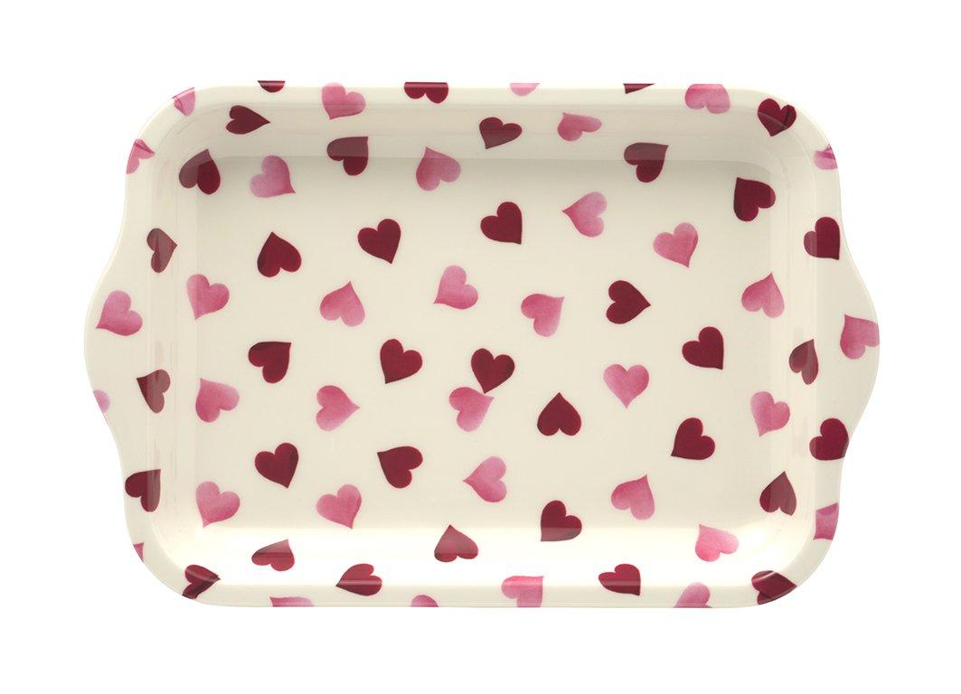 """aus Melamin Emma Bridgewater kleines Tablett /""""Pink Hearts/"""""""