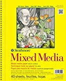 """Strathmore 300 Series Mixed Media Pad, 11""""x14"""" Wire Bound, 40 Sheets"""