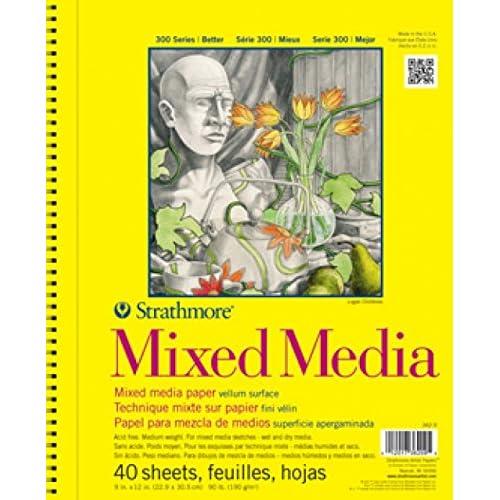 Pro-Art Bilderpalette Papier Strathmore Mixed Media spirale vélin Papier Pad 28x 35,5cm, 40feuilles