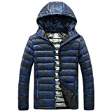 WUYIMC Men's Pullover Winter Hooded Camouflage Printing Thickening Hooded Cotton Jacket Coat Outwear Tops