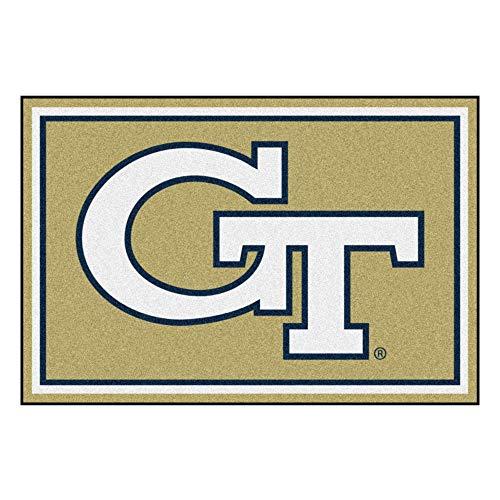 FANMATS NCAA Georgia Tech Yellow Jackets Nylon Face 5X8 Plush Rug -