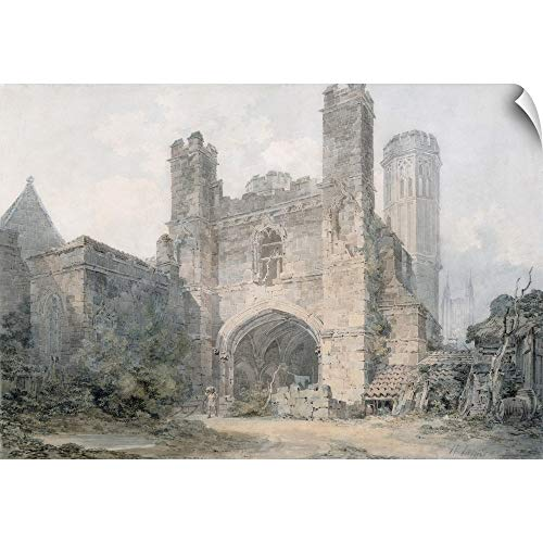 CANVAS ON DEMAND Joseph Mallord William Turner Wall Peel Wall Art Print Entitled St. Augustine's Gate, Canterbury, c.1797 18
