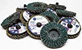 Benchmark Abrasives 2'' Quick Change Roloc Zirconia Flap Discs - 10 Pack (80 Grit)