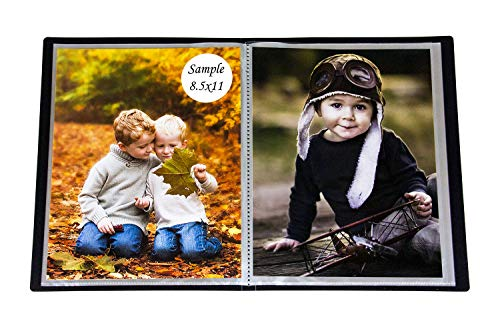 (2PO Portfolio - Presentation Display Photo Album Holds 48 Pictures, Space Saver Album with Slip-in Pockets 8.5 by 11 Inch)