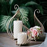 Candlestick,European-Style Modern Simple Iron Candlestick Ornaments Iron Home Decoration Products Three-Piece Set