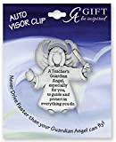 TEACHER - GUARDIAN Angel Auto VISOR CLIP - Teaching STUDENT Aide - Protect - Inspirational GIFT