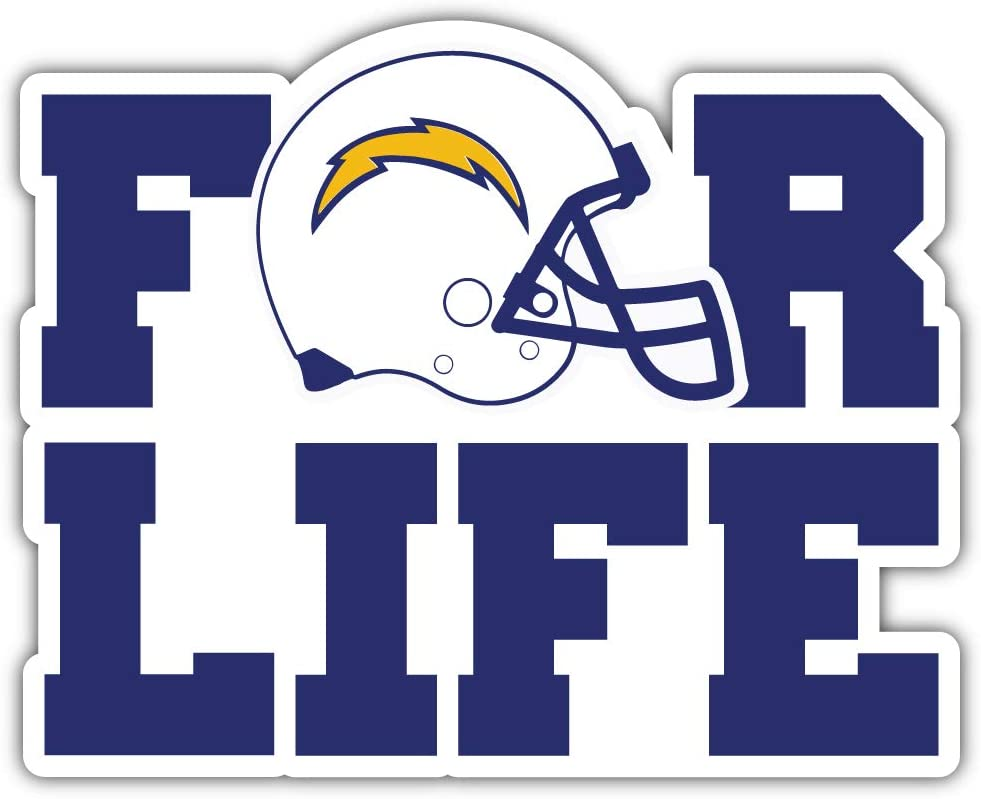 Los Angeles for Life Sport Decal 5 X 4 Chargers Football