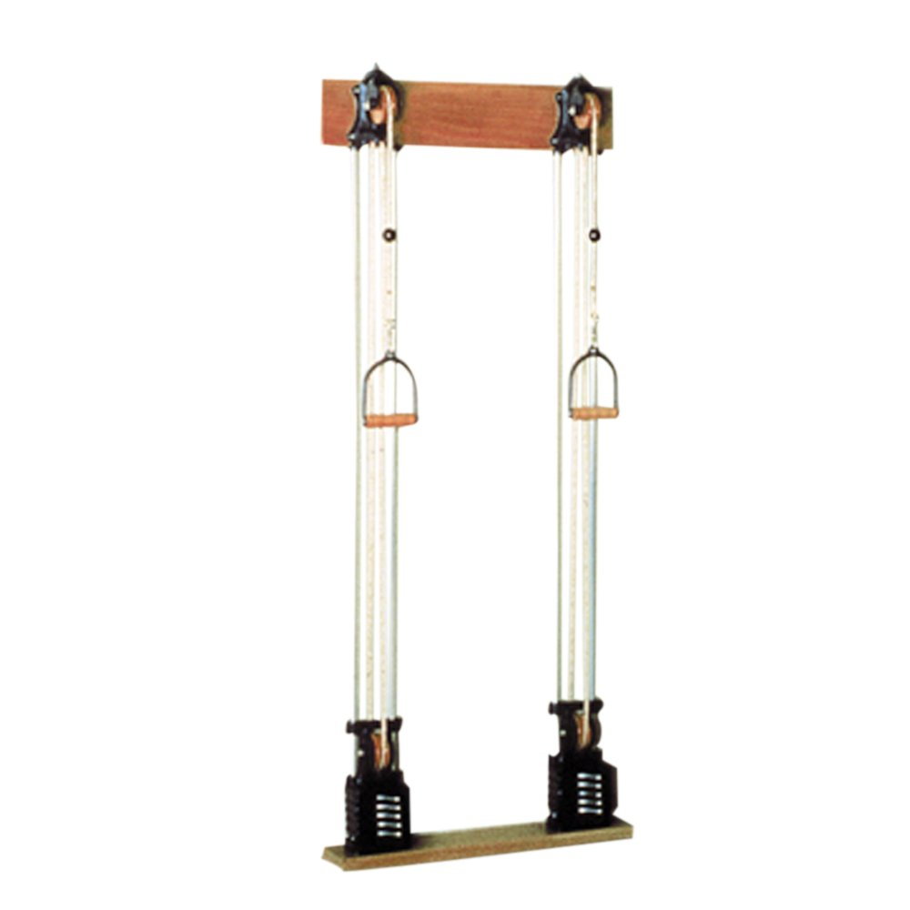 Chest Weight Pulley System - Single handle (mid) - two towers - 10 x 2.2-lb weights