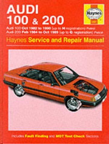 Audi 100 Manual - Audi 100 1982-90 and 200 1984-89 Service and Repair Manual (Haynes Service and Repair Manuals)