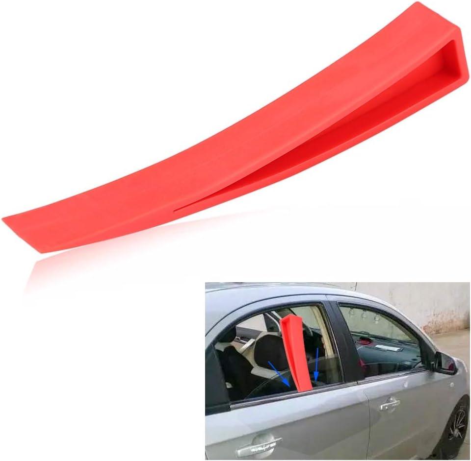 Car Window Wedge BiuZi Nylon Car Door Window Wedge Panel Paintless Dent Door Wedge Repair Tool Red