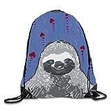 Drawstring Backpack Bag Sloth Fine Art Men & Women Yoga Dance Travel Shoulder Bags