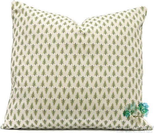 Green Pillow Cover - Premier Prints Forest Formica/Macon Pillow Cover - 20 Different Sizes - Bottom Invisible Zipper Closure (Green Forest Canopy)