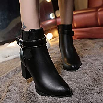 Amazon.com: Christmas Clearence Womens Shoes KpopBaby Autumn Winter Short Boots High Heel Shoes Martin Boots Ankle Boots Shoes: Clothing