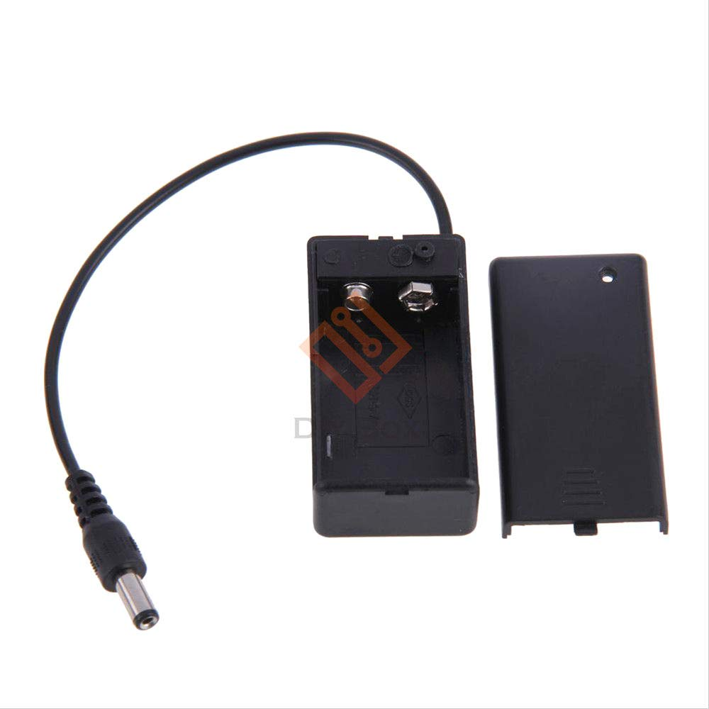 9V Volt PP3 Battery Holder Box DC Case With Wire Lead ON//OFF Switch Cover/_chHH